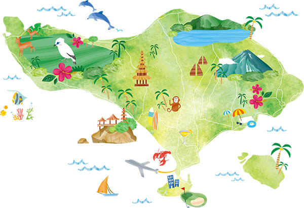 Bali Map Tour and Travel