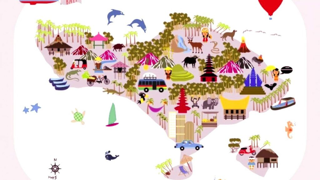 bali maps for tourist atractions in bali