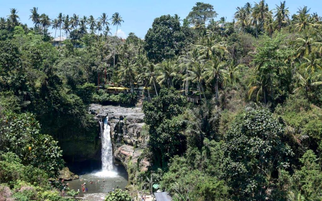 tegenungan waterfall gianyar is one of best waterfall in bali located in ubud